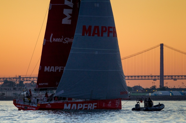"El ""MAPFRE"" segundo en Lisboa./ ""MAPFRE"" arrives second in Lisboa."